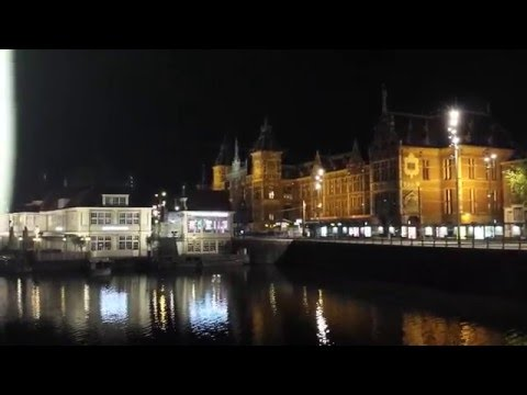 amsterdam centraal station by night netherland