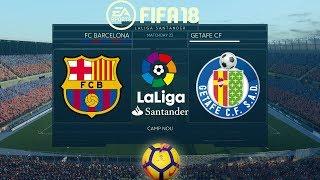 FIFA 18 Barcelona vs Getafe | La Liga 2017/18 | PS4 Full Match