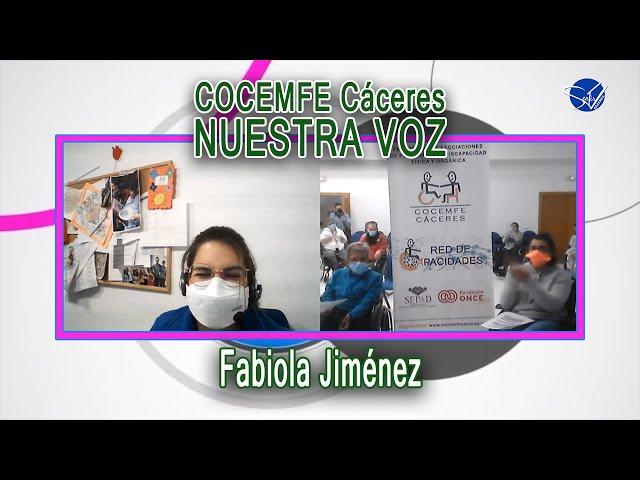 COCEMFE Nuestra Voz - Fabiola Jiménez