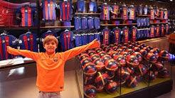 FC Barcelona Mega Store Shopping Experience Fun
