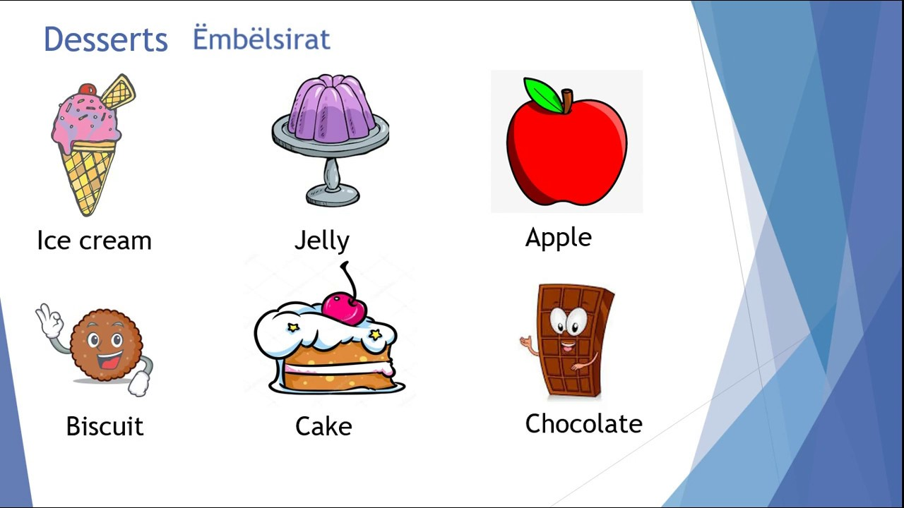 Klasa III - Food and Drinks- Ushqimi dhe pijet ne Gjuhen Angleze ...