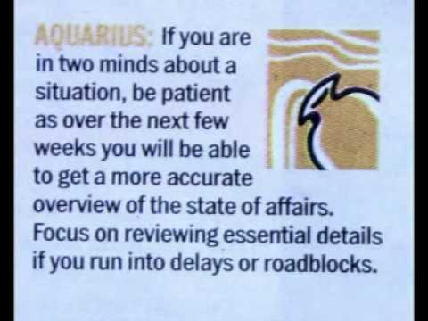 Todays Horoscope for Aquarius