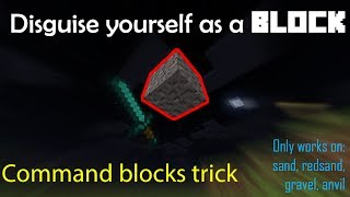 How to disguise yourself as a block with command blocks in Minecraft PE