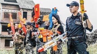 LTT Game Nerf War : Winter Warriors SEAL X Nerf Guns Fight Criminal Group Rocket Carrying Weapons