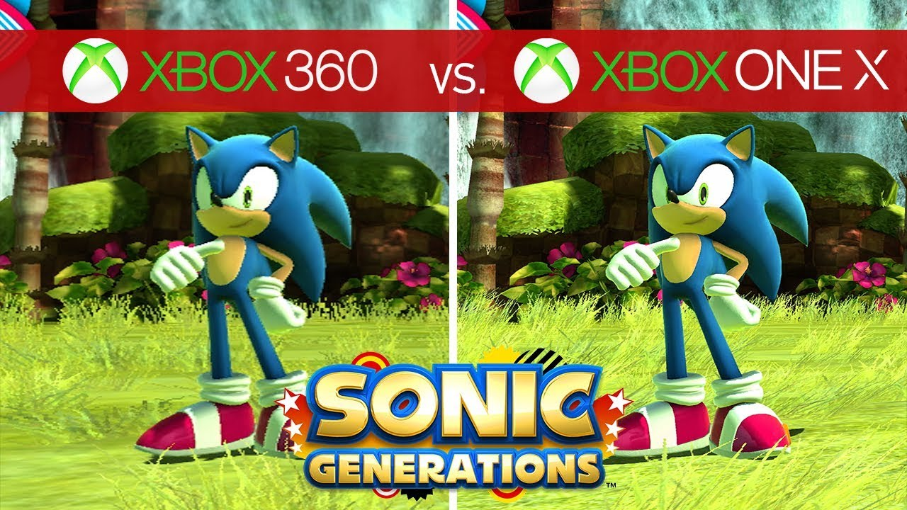 Sonic Generations Comparison Xbox 360 Vs Xbox One X Youtube