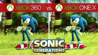 Sonic Generations Comparison  - Xbox 360 vs. Xbox One X