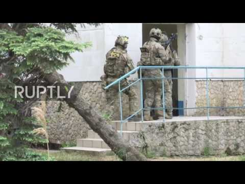 Russia: Special forces stage hostage situation exercise in Crimea