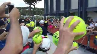 Rafa Nadal signing autographs in Rome