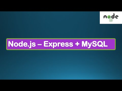 Node.js Tutorials #5 - Mode with Express & MySQL - Using Express with MySQL DB in Node.js