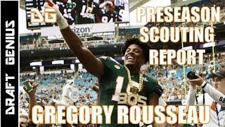 Gregory Rousseau: Miami DE |  Preseason 2021 NFL Draft Scouting Report