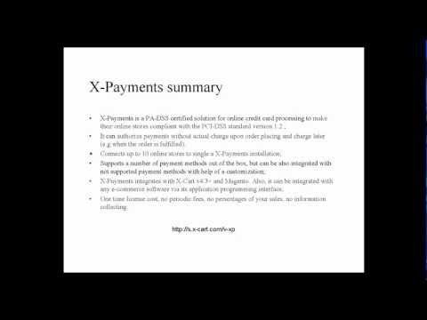 X-Payments v1.0 PA-DSS certified application
