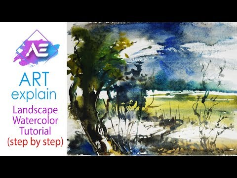 Stormy Watercolor Painting Tutorial | How to paint a watercolor landscape | Art Explain
