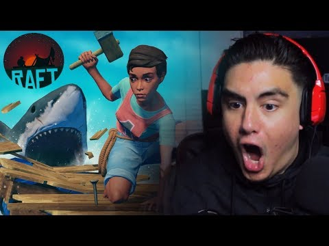 TRYING TO LOOT ABANDONED RAFTS & NOT BE SHARK FOOD | Raft (Full Release)
