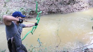 Building Amazing New Style PVC Compound Bowfishing For Shooting Huge Fish  -Make n Use