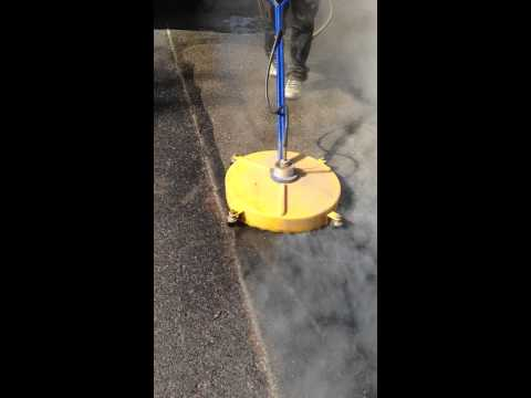 Pressure Washing Aspen Sap off exposed aggregate concrete Driveway