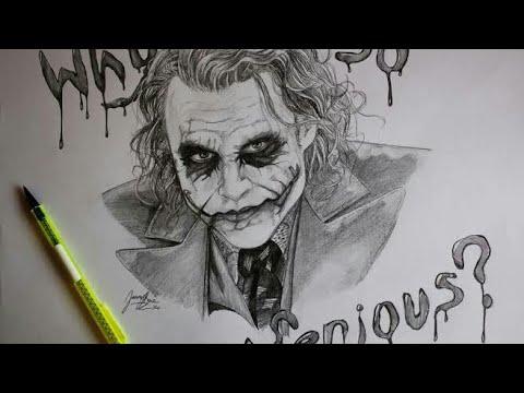 Joker Sketch Easy Way To Draw Learn To Draw Joker Face Youtube