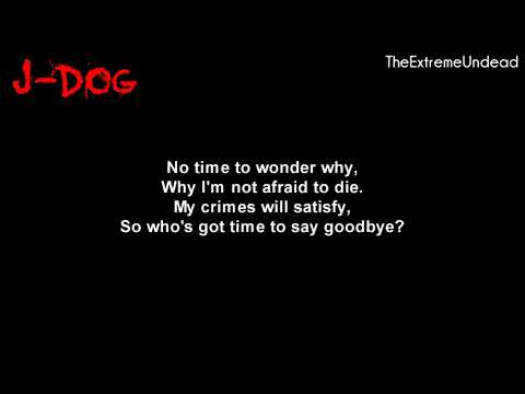 Hollywood Undead - Bang Bang [Lyrics Video]