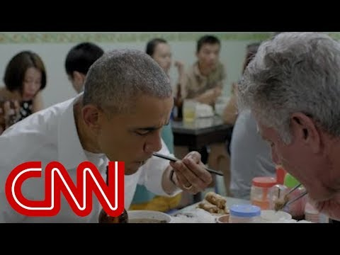 Bourdain and Anderson talk Vietnam, dining with Obama