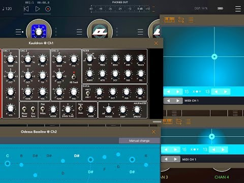 Setting Up ODESSA XY Pads & Bassline to Control Kauldron Synth - iPad Tutorial