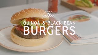 Quinoa & Black Bean Burgers | Deliciously Ella | Vegan