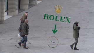 FAKE ROLEX PRANK! Dropping Rolex Watch! Social Experiment