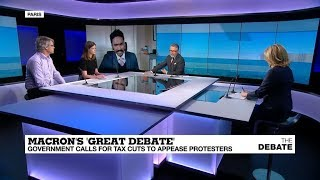 Macron's Great Debate: Government calls for tax cuts to appease protesters