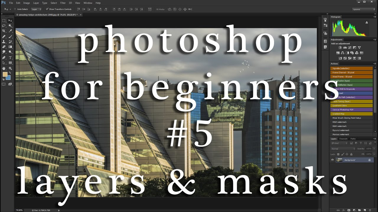 How to start with photoshop #5 - layers and masks in practice