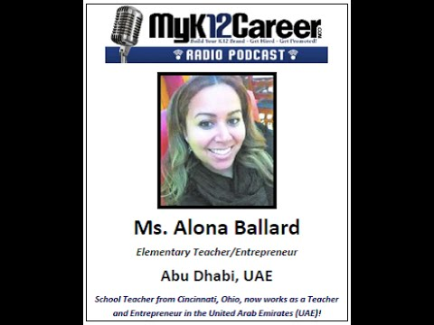 MyK12Career Radio Podcast - Alona Ballard, Episode #20