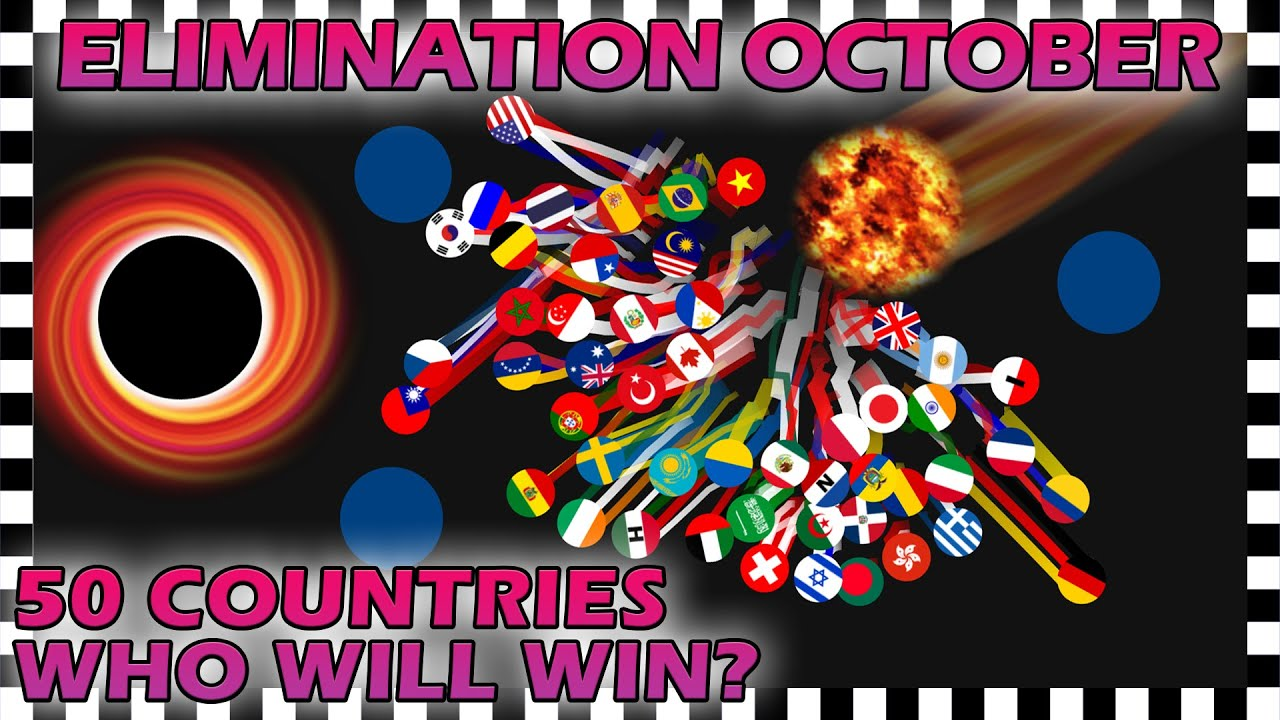 Marble Race Elimination - Top 50 Countries By Watch Time For October 2020 - Algodoo