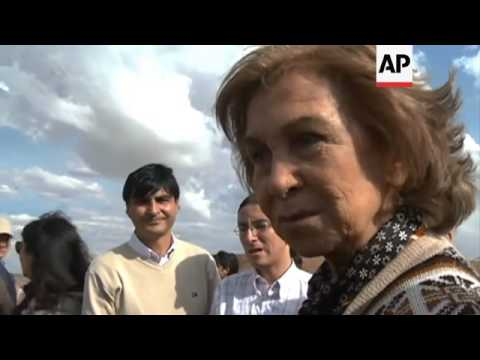 Queen Sofia of Spain on official visit to Bolivia