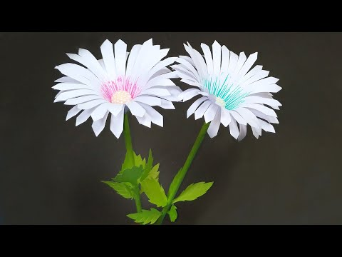 How To Make Room Decor Handcraft Stick Flower | DIY Paper Craft Idea | Jarine's Crafty Creation