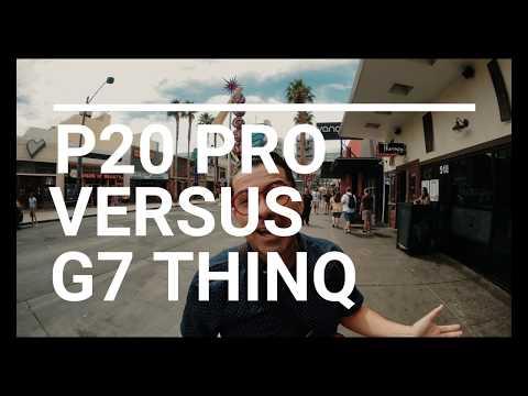 Probando el LG G7 ThinQ contra el Huawei P20 Pro, en Las Vegas