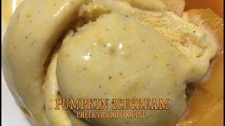 Pumpkin Ice Cream Halloween cheekyricho cooking video recipe ep.1,172