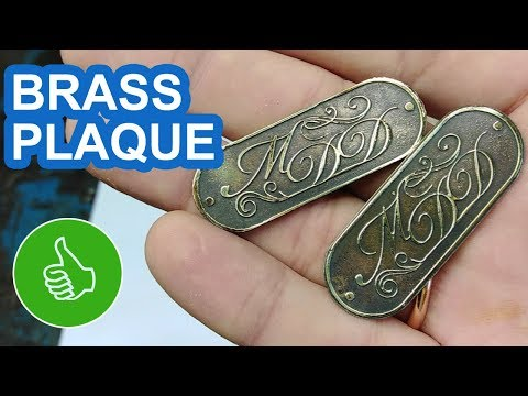 ETCHING BRASS: HOWTO MAKE A PLAQUE