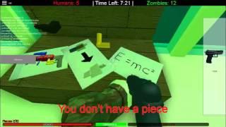 ROBLOX`TA HUMANS VS ZOMBİES Oynadım Hep Öldüm :D #1