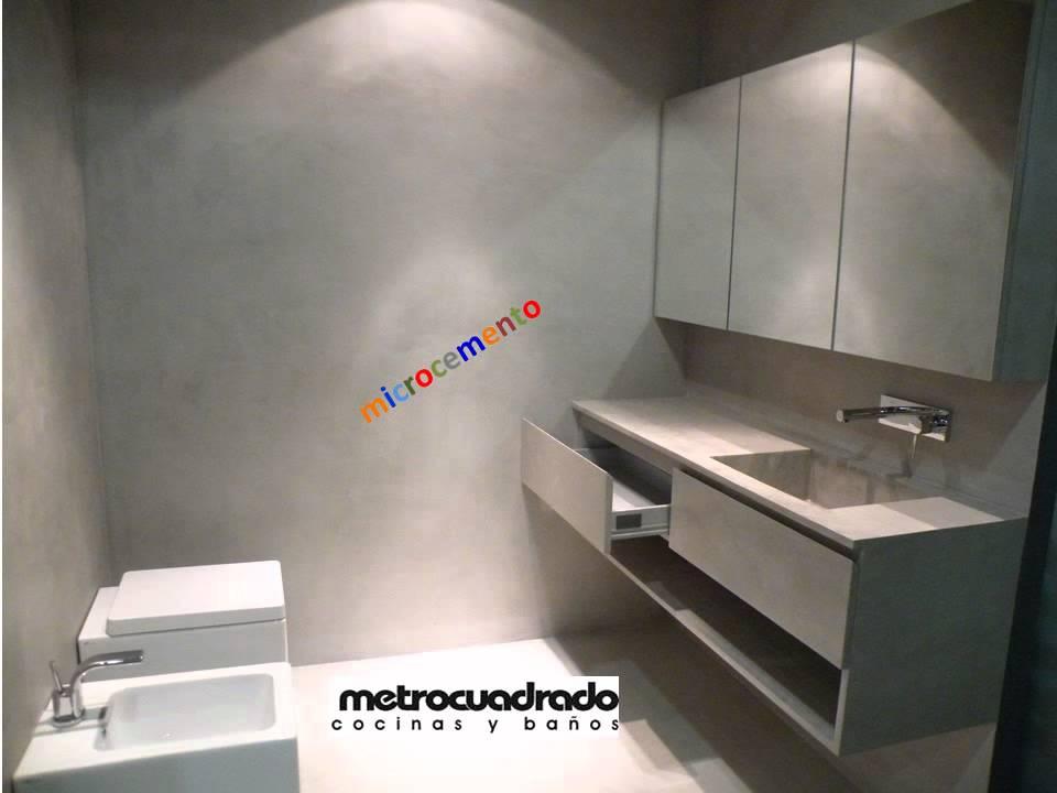 Metrocuadradoestudio ba o y vestidor microcemento youtube for Microcemento imagenes