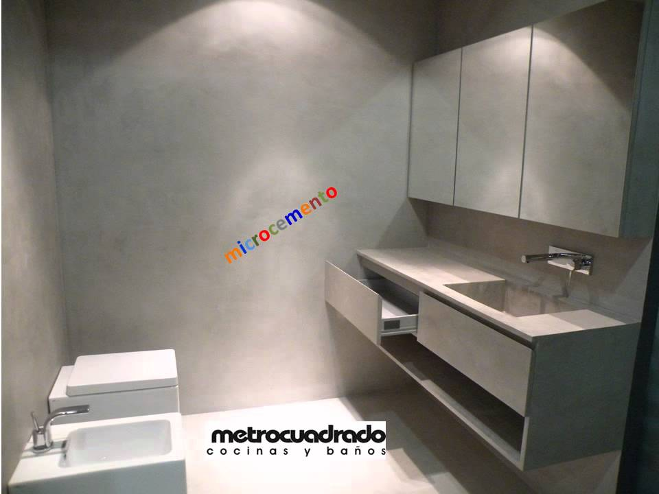 Metrocuadradoestudio ba o y vestidor microcemento youtube - Microcemento para banos ...