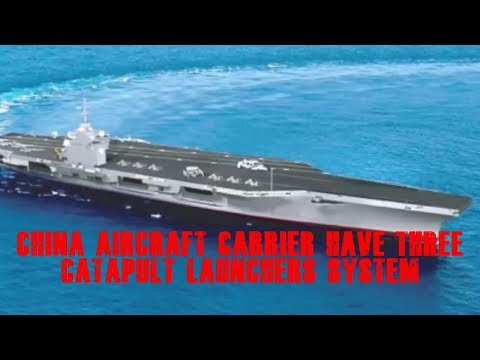 china aircraft carrier have Three catapult launchers system