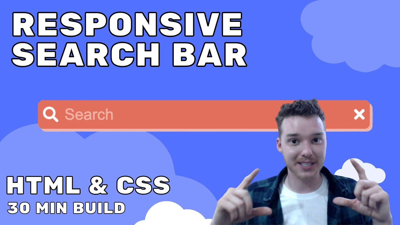 Build a Responsive Search Bar in 30 Minutes   HTML & CSS