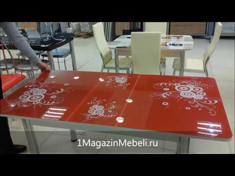 Видео презентация Стола Грация, красный с микролифтом - 1MagazinMebeli.ru
