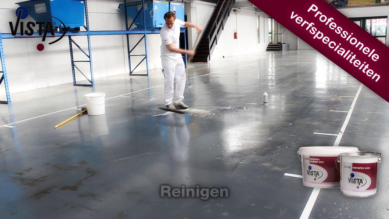 vloer schilderen met de vistapox 4000 epoxy vloercoating youtube