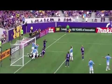 Josh Saunders Collides Head to the post  Orlando City vs New York City HD