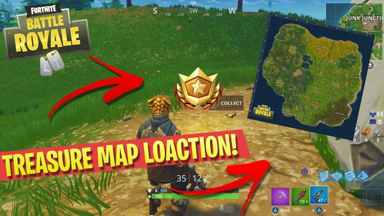 fortnite follow the treasure map