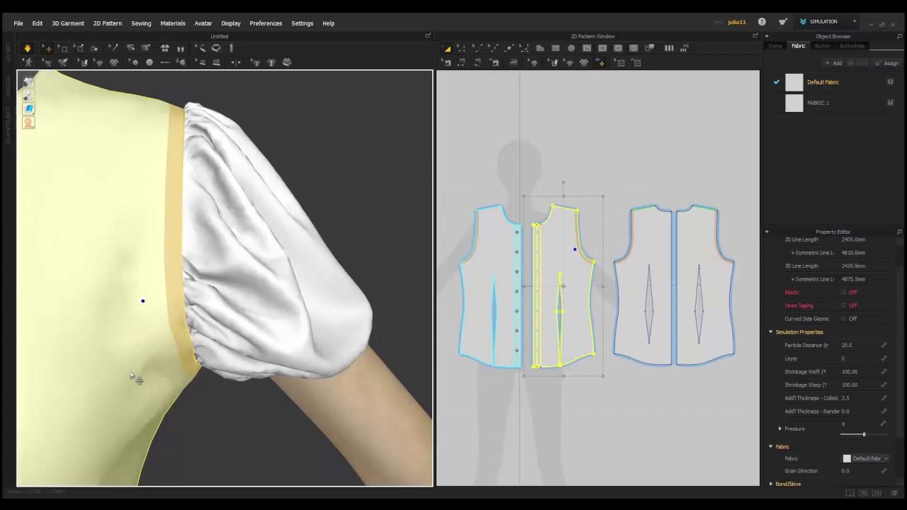 Marvelous Designer 6.5_Seam Taping - YouTube
