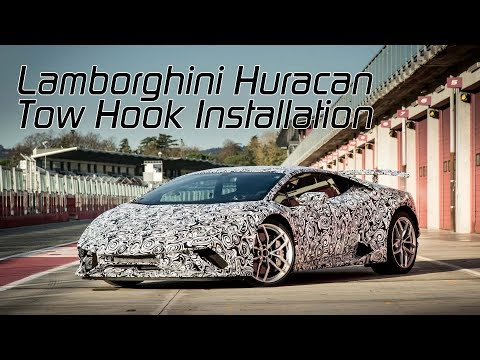 Lamborghini Huracan: How to install a front Tow Hook