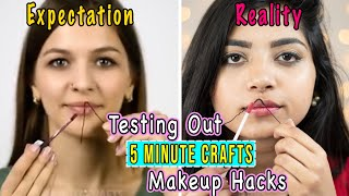 Testing Out Viral Makeup Hacks by 5 MINUTE CRAFTS Part 1