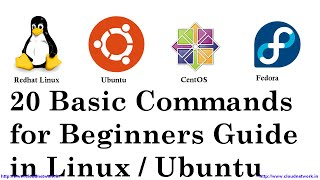 20 Basic Commands for Beginners Guide in Redhat Linux, CentOS, Fedora & Ubuntu, Linux Mint(Terminal)
