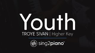 Youth (Higher Key - Piano Karaoke Instrumentals) Troye Sivan