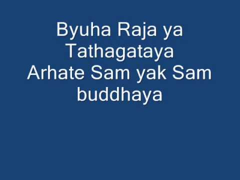 Namo ratna traya lyrics ( Mantra of Avalokiteshvara )