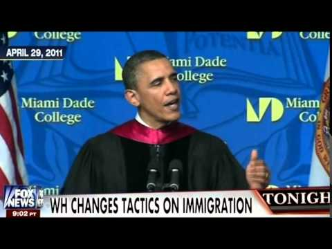 "Obama's ""I Don't Have the Constitutional Power to Suspend Deportations, It Would Be Illegal"" Montage"